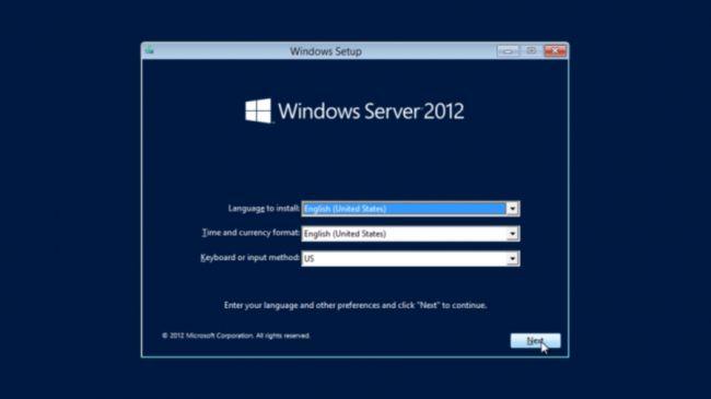 windows server installation