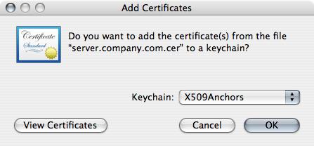 add certificate